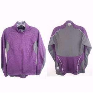 Novara purple vented pockets bike cycling jacket M